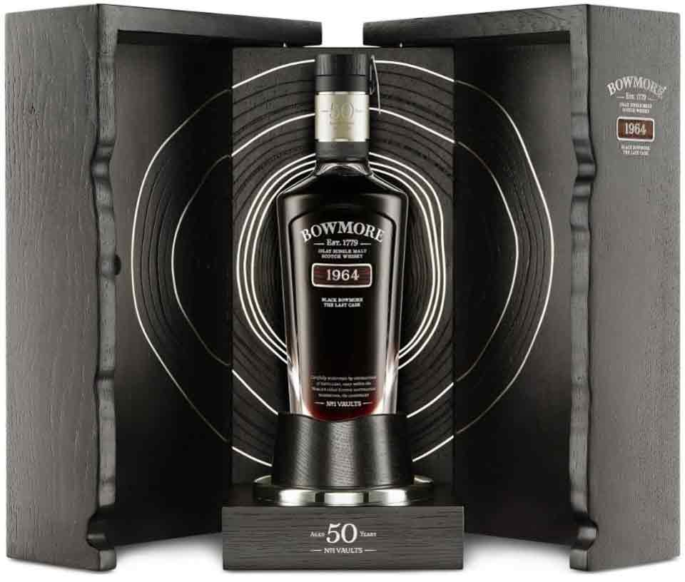 Bowmore - 1964 Black Bowmore, último barril (US $ 75.000)