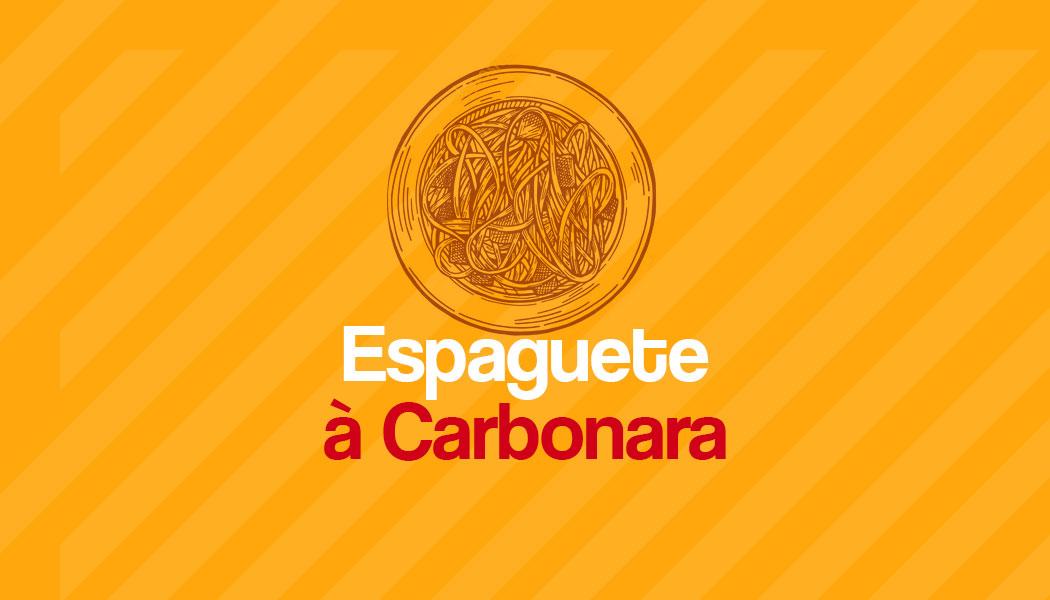 Receita fácil de Espaguete à Carbonara