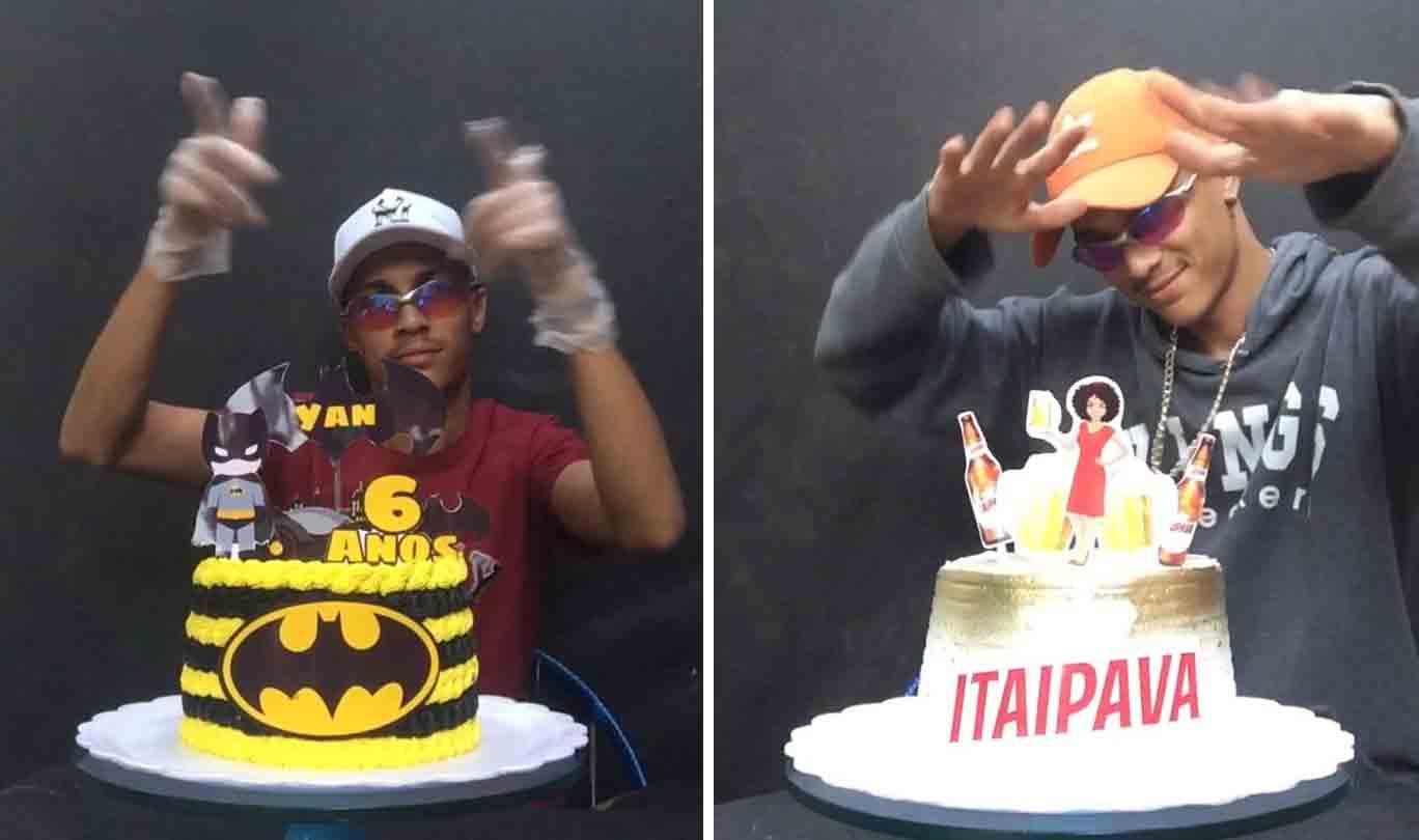 Confeiteiro faz sucesso no Instagram dançando funk enquanto mostra seus bolos . Foto: Instagram