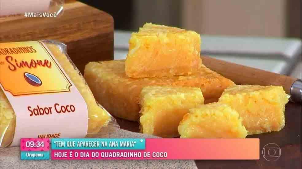 Quadradinhos de Coco no 'Mais Você' (Foto/Reprodução) Globo