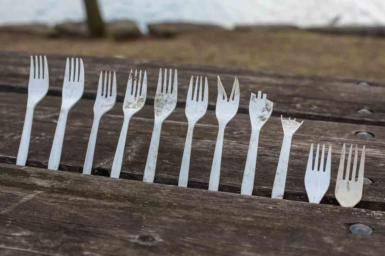 Copos, pratos e talheres de plástico estão proibidos em São Paulo. Foto: Pixabay